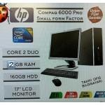 HP CompaQ 6000Pro Core2 Duo 2GB Ram 160GB Hdd 17   Monitör Pc  HP CompaQ 6000Pro Core2 Duo