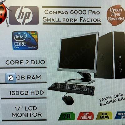 HP CompaQ 6000Pro Core2 Duo 2GB Ram 160GB Hdd 17'' Monitör Pc