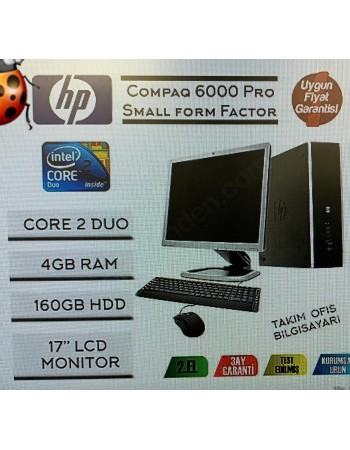 HP CompaQ 6000Pro Core2 Duo 4GB Ram 160GB Hdd 17'' Monitör Pc