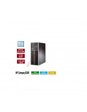 HP Compaq 8200 İntel Core İ3-2100 CPU + 4GB RAM- 320GB HDD Kasa